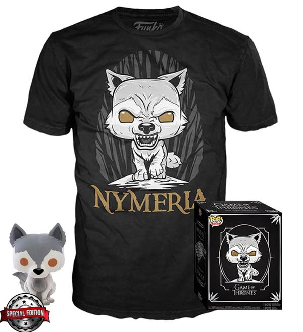 POP & Tee GOT: Direwolf Nymeria מידה L POP