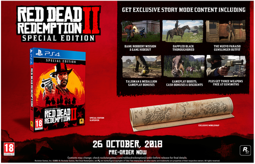 Red Dead Redemption 2  Special Edition  Playstation - PS4