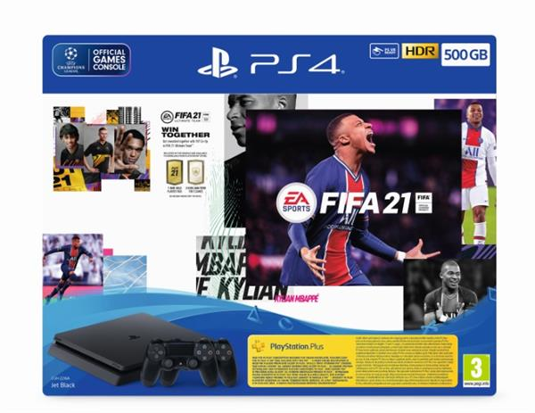קונסולת Playstation 4 Slim 500GB + FIFA 21+ 2 Controllers Playstation - PS4